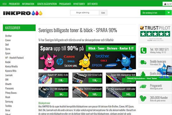 Sveriges billigaste urval av skrivarpatroner