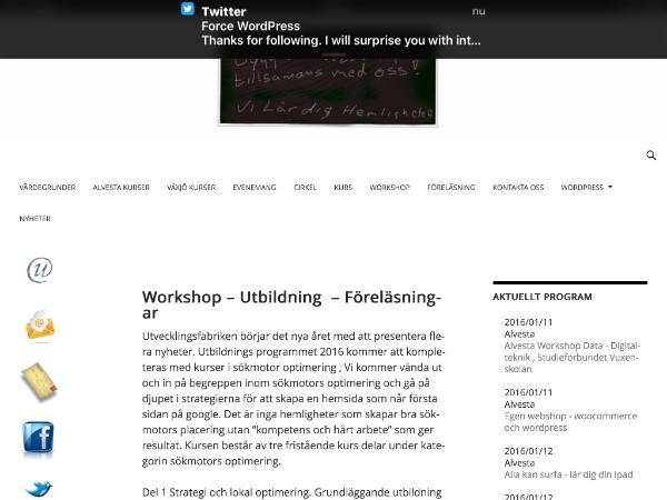 Wordpress utbildningar i Växjö
